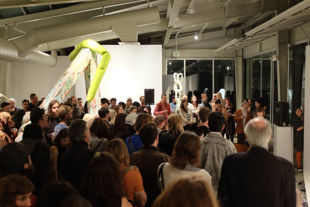 It felt like this could have been an event at SFAI or SOEX. Amazing turnout from the West Bay.